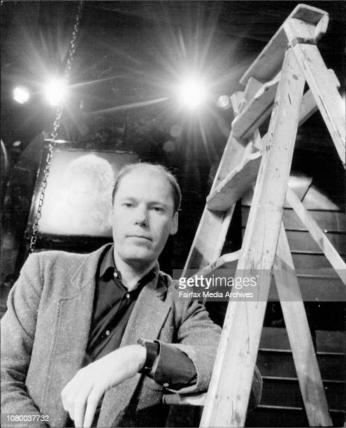 """Jimmy takes a rest""""Portrait of Jimmy Sharman, stage manager/director of New show at the Opera House. July 16, 1981. ."""