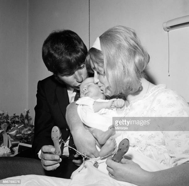 Jimmy Tarbuck and his wife Pauline pictured at Stanborough Hospital Watford with their new baby son James 17th July 1968