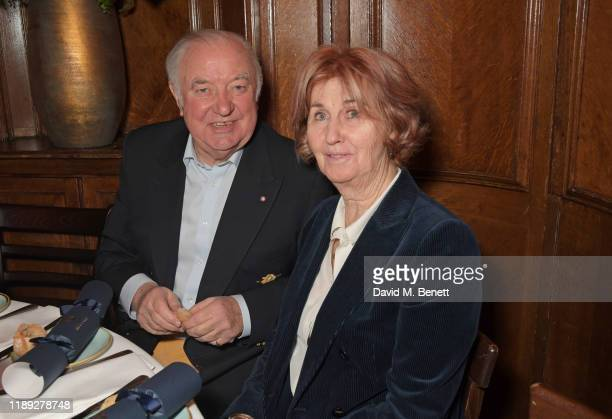 Jimmy Tarbuck and Pauline Tarbuck attend Tramp's Christmas Party in celebration of their 50th Anniversary on December 17 2019 in London England