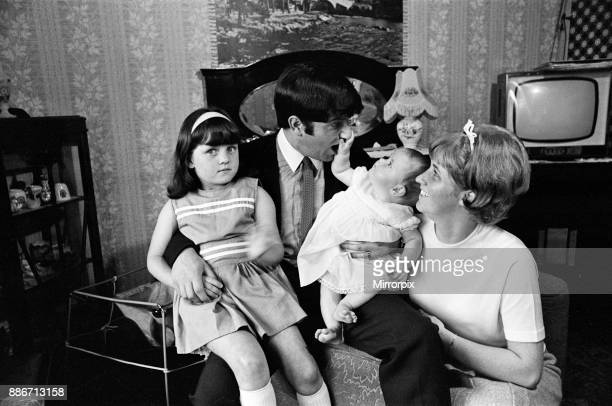 Jimmy Tarbuck in Great Yarmouth with his wife Pauline and their daughters Cheryl and Liza 7 months Jimmy didn't know for sure at 4pm if he was...