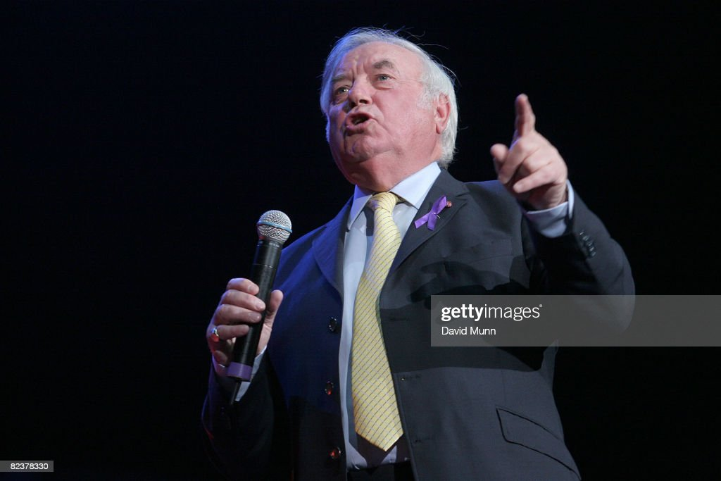 Jimmy Tarbuck on stage at Liverpool Unites: Concert For Rhys at Echo Arena on August 15, 2008 in Liverpool, England.