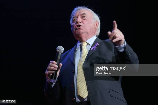 Jimmy Tarbuck on stage at Liverpool Unites Concert For Rhys at Echo Arena on August 15 2008 in Liverpool England