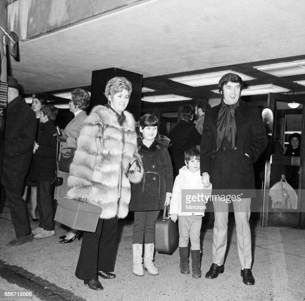 Jimmy Tarbuck sees off his wife Pauline and daughters Liza and Cheryl who were leaving Heathrow for a holiday in Austria 21st February 1969