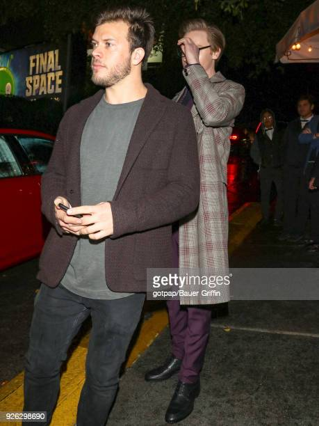 Jimmy Tatro and Calum Worthy are seen on March 02 2018 in Los Angeles California