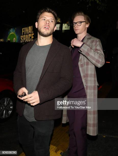 Jimmy Tatro and Calum Worthy are seen on March 1 2018 in Los Angeles California