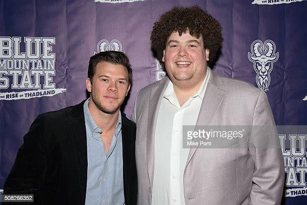 Jimmy Tatro and Rob Ramsay attend the Blue Mountain State The Rise of Thadland New York Premeire at Landmark's Sunshine Cinema on February 3 2016 in...
