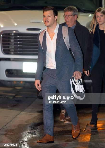 Jimmy Tatro is seen at 'Jimmy Kimmel Live' on December 06 2018 in Los Angeles California