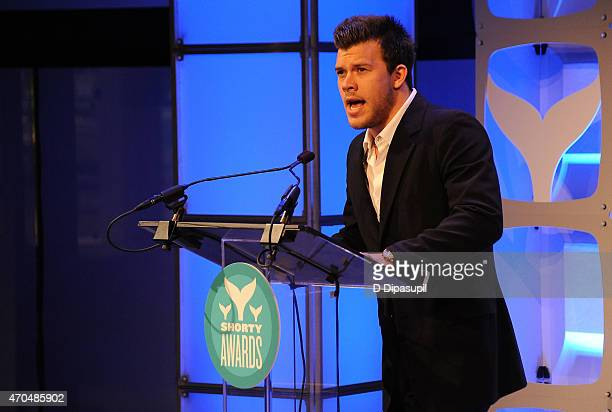 Jimmy Tatro speaks onstage during the 7th Annual Shorty Awards on April 20 2015 in New York City