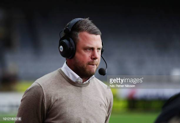 Jimmy Thelin head coach of IF Elfsborg during the Allsvenskan match between IF Elfsborg and Ostersunds FK at Boras Arena on August 6 2018 in Boras...
