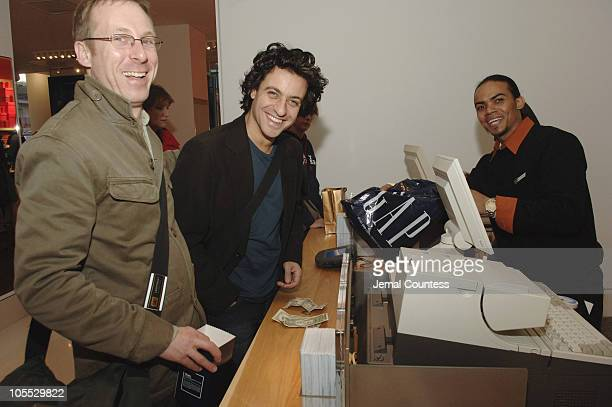 Jimmy Tucker and Adam Levy of London England shop at the new Gap store at 59th and Lexington in New York City November 2 2005