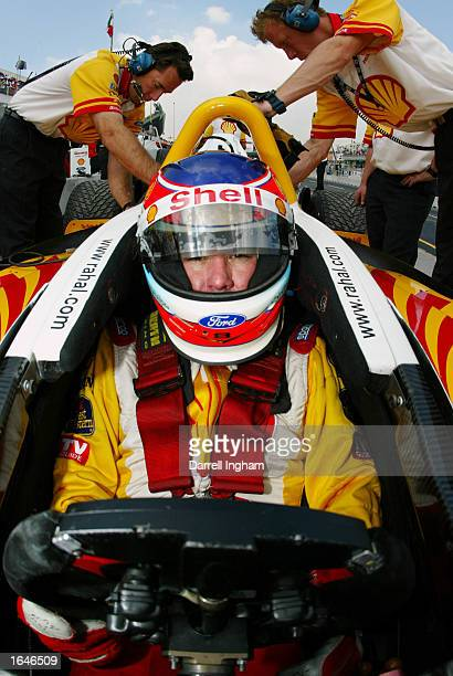 Jimmy Vasser aboard the Shell Team Rahal Ford Lola during practice for the Gran Premio GiganteTelmex round 19 of the CART Fed Ex Championship Series...