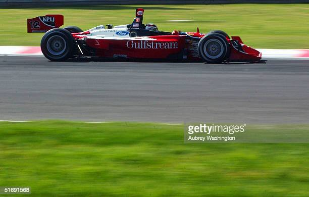 Jimmy Vasser of the USA drives during practice and qualifying for the CART series GP at the Autodromo Hermanos Rodriguez November 6 2004 in Mexico...