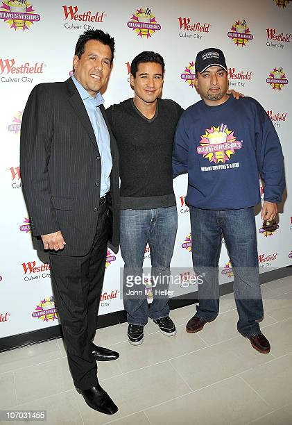 Jimmy Villorreal actor Mario Lopez and Founder CEO of Millions Of Milkshakes Sheeraz Hasan attend the launching of Mario Lopez's milkshake at...