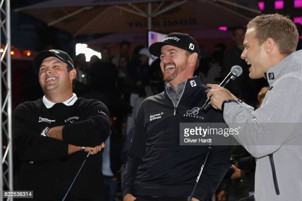 Jimmy Walker and Patrick Reed of the United States attend the Porsche European Open Team Challenge at Spielbudenplatz on July 25 2017 in Hamburg...