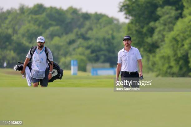 Jimmy Walker approaches the ninth green during the first round of the AT&T Byron Nelson on May 9, 2019 at Trinity Forest Golf Club in Dallas, TX.