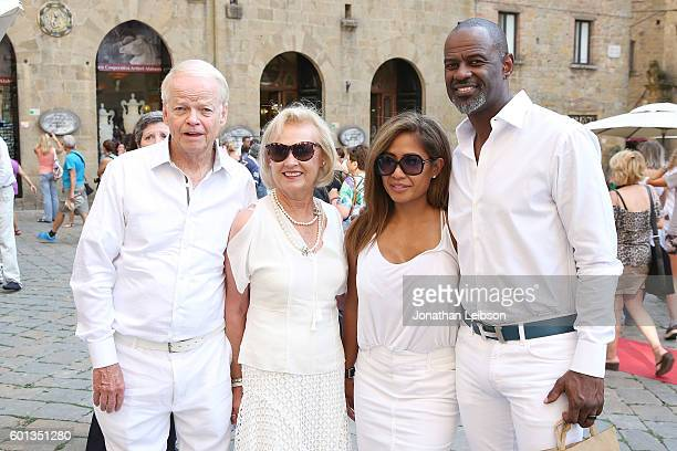 Jimmy Walker Nancy Walker Leilani Mendoza and Brain McKnight attend Volterra Italy September 09 the Flag performs Welcome in Volterra as part of...