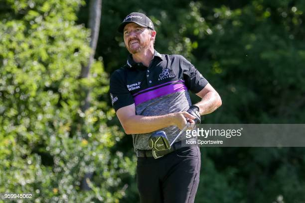 Jimmy Walker of the United States hits his tee shot on during the second round of the 50th anniversary AT&T Byron Nelson on May 18, 2018 at Trinity...