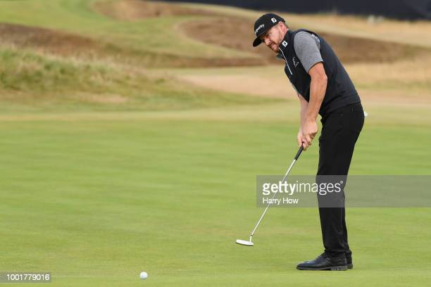 Jimmy Walker of the United States putts on the 12th green during the first round of the 147th Open Championship at Carnoustie Golf Club on July 19...