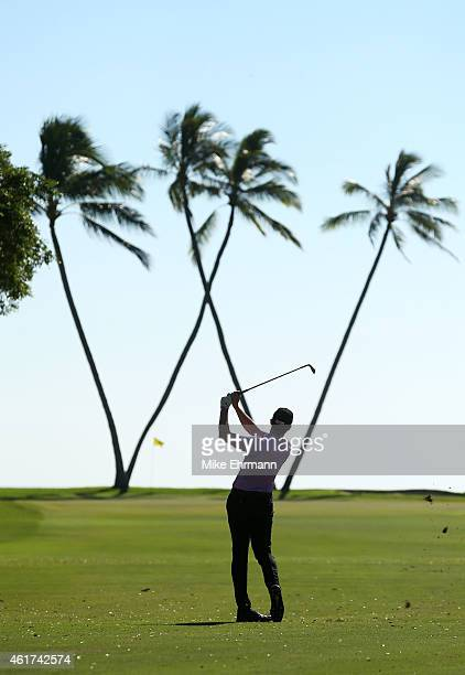 Jimmy Walker plays a shot on Tom Hogee 16th hole during the final round of the Sony Open In Hawaii at Waialae Country Club on January 18 2015 in...