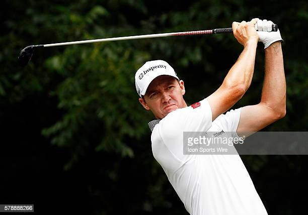 Jimmy Walker tee's off on during the third round of the Crowne Plaza Invitational at Colonial played in Fort Worth TX