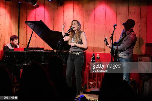 Jimmy Wallace Jessi Alexander and Jon Randall perform onstage at Rockwood Music Hall on February 27 2020 in New York City
