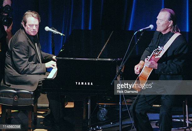 Jimmy Webb and Glen Campbell during 44th Annual ASCAP Country Music Awards Show at Ryman Theater in Nashville TN United States