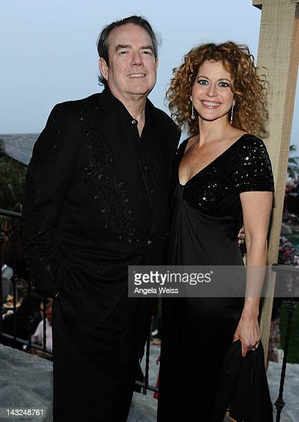 Jimmy Webb and Laura Savini attend Jane Seymour's 2nd annual Open Hearts Foundation Celebration held at a private residency on April 21 2012 in...