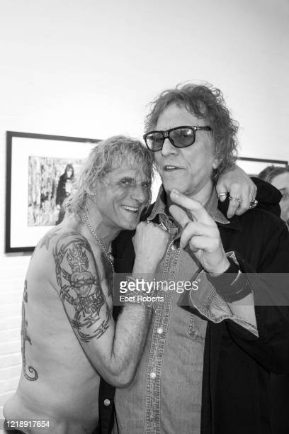 Jimmy Webb and rock photographer Mick Rock attend the opening of the CBGB The Age of Punk at Morrison Hotel Gallery in New York City on May 17 2018