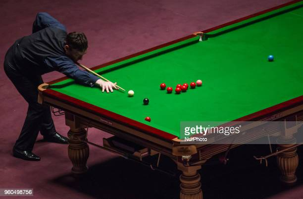 Jimmy White Great Brittain of plays a shot against Shaun Murphy of Great Brittain during the III Hungarian Snooker Gala on May 19 2018 in Budapest...