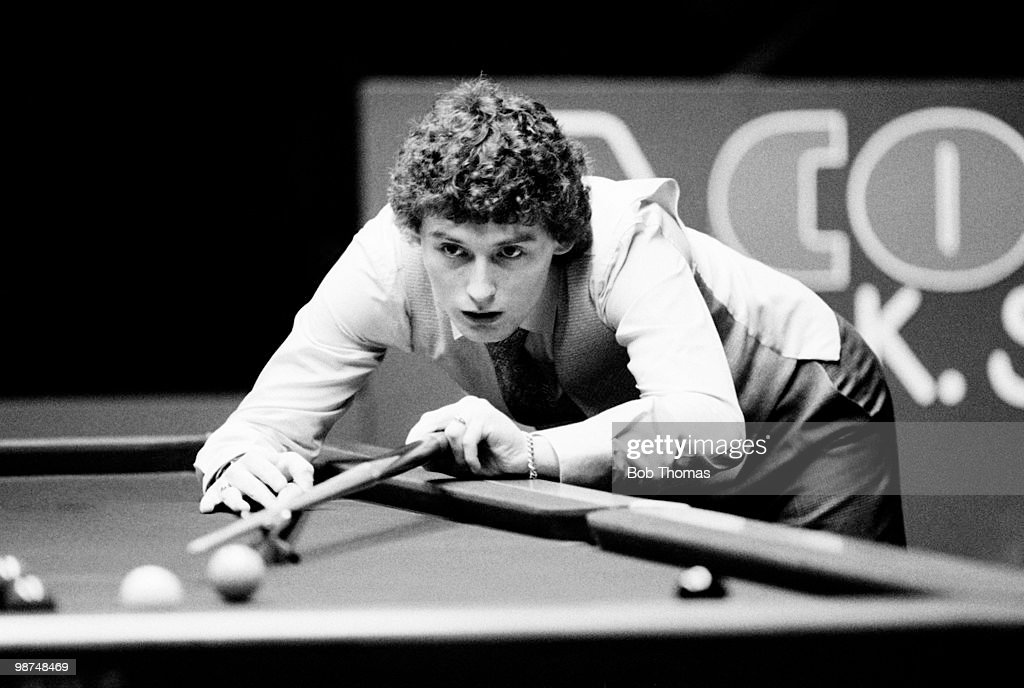 Jimmy White of Great Britain in action during the Coral UK Snooker Championship at the Guildhall in Preston, 22nd November 1981.