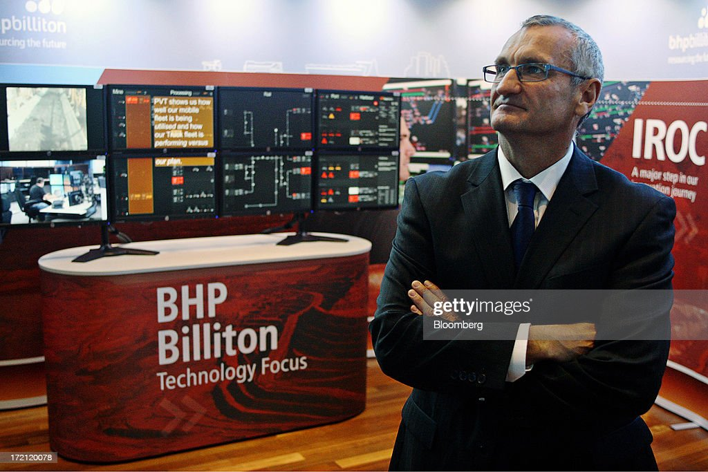 Jimmy Wilson, president of iron ore at BHP Billiton Ltd., stands for a photograph at a launch event for the company's new Integrated Remote Operations Centre in Perth, Australia, on Tuesday, July 2, 2013. BHP Billiton is the world's largest mining company. Photographer: Sergio Dionisio/Bloomberg via Getty Images
