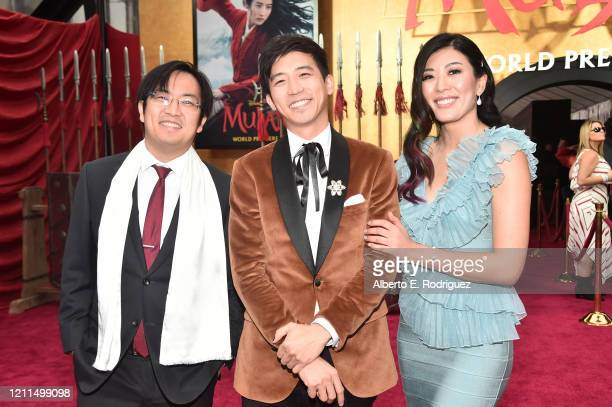 Jimmy Wong and guests attend the World Premiere of Disney's 'MULAN' at the Dolby Theatre on March 09 2020 in Hollywood California