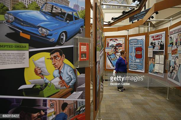 Jimmye France of Irving TX looks at one of the displays inside The American Museum of Tort Law a law museum developed by Ralph Nader in his hometown...