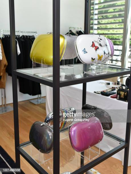 Jimmy's display at the Hamptons Magazine London Jewelers Luxury Shopping Afternoon at Topping Rose House on July 18 2018 in Bridgehampton New York