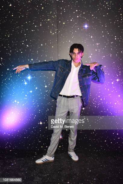 Jimothy Lacoste attends Octavian's SPACEMAN mixtape launch event at Night Tales Hackney on September 11 2018 in London England