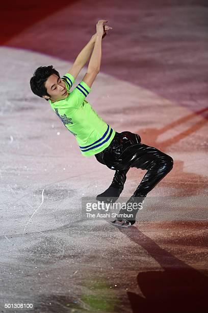 Jin Boyang of China performs at an exhibiton gala on day 4 of the ISU Junior Senior Grand Prix of Figure Skating Final at the Barcelona International...