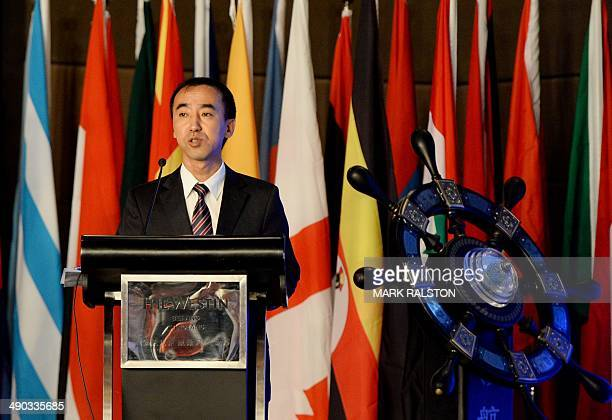 Jin Chenglong who is the chairman of the new Elephant Alliance Global Economy and Trade Platform speaks at the launch ceremony in Beijing on May 14...