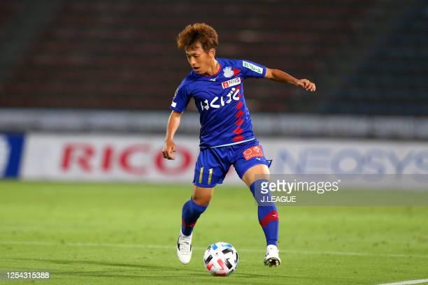 Jin Izumisawa of Ventforet Kofu in action during the J.League Meiji Yasuda J2 match between Ventforet Kofu and Albirex Niigata at the Yamanashi Chuo...