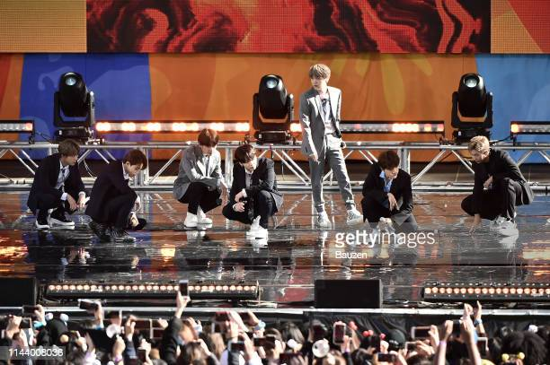 Jin Jimin V Jungkook Suga JHope and RM perform on Good Morning America on May 15 2019 in New York City