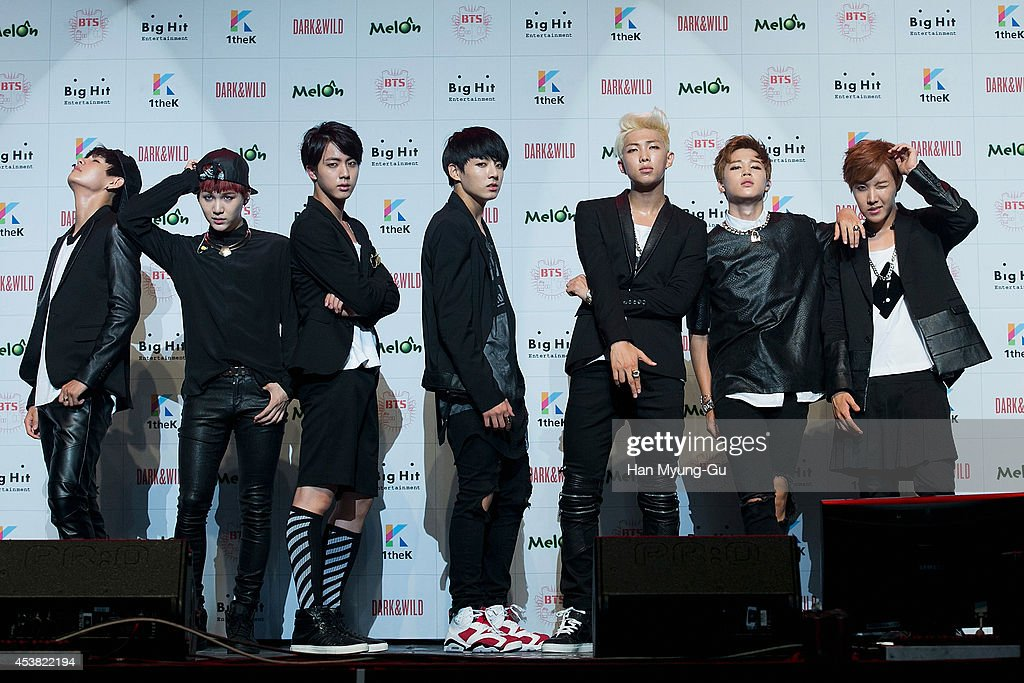 """BTS 1st Album """"Dark And Wild"""" Show Case"""" In Seoul : News Photo"""