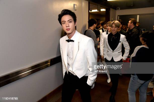 Jin of BTS attends 1027 KIIS FM's Jingle Ball 2019 Presented by Capital One at the Forum on December 6 2019 in Los Angeles California