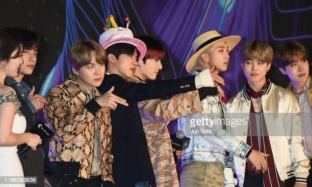 Jin of BTS celebrates birthday at the 2019 Mnet Asian Music Awards Red Carpet at Nagoya Dome on December 4, 2019 in Nagoya, Japan.