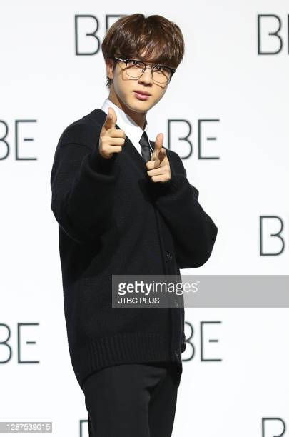 Jin of BTS during BTS's new album 'BE ' release press conference at Dongdaemun Design Plaza on November 20, 2020 in Seoul, South Korea.