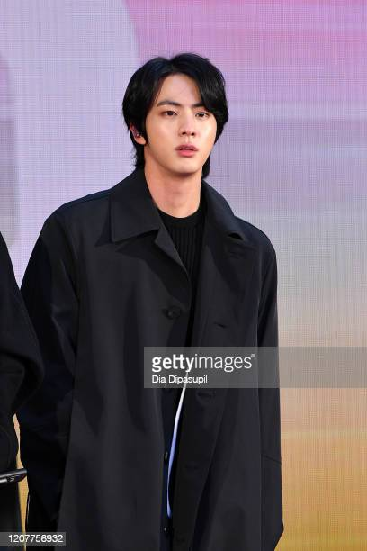 """Jin of the K-pop boy band BTS visits the """"Today"""" Show at Rockefeller Plaza on February 21, 2020 in New York City."""