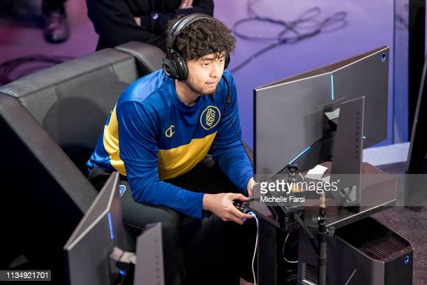 Jin of Warriors Gaming Squad plays during the game against the Hawks Talon Gaming Club during Day Three of the NBA 2K League Tip Off Tournament on...