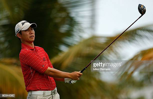 Jin Park hits his tee shot on the 10th hole during the third round of the Puerto Rico Open presented by Banco Popular held on March 22 2008 at Coco...