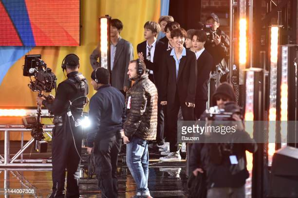 V Jin RM Jungkook JHope Suga and Jimin of BTS perform on Good Morning America on May 15 2019 in New York City