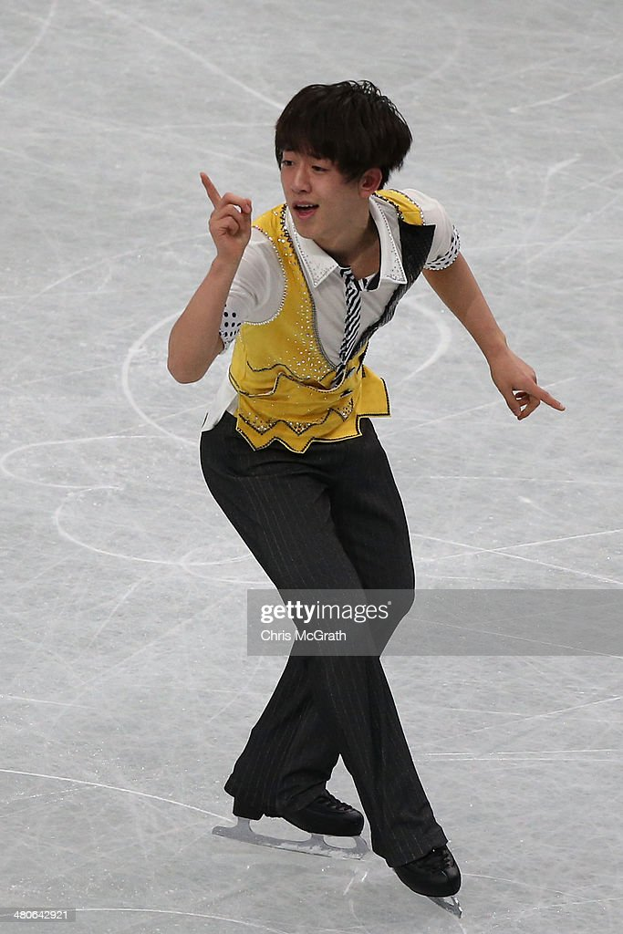 Jin Seo Kim of Korea competes in the Men's Short Program during ISU World Figure Skating Championships at Saitama Super Arena on March 26, 2014 in Saitama, Japan.