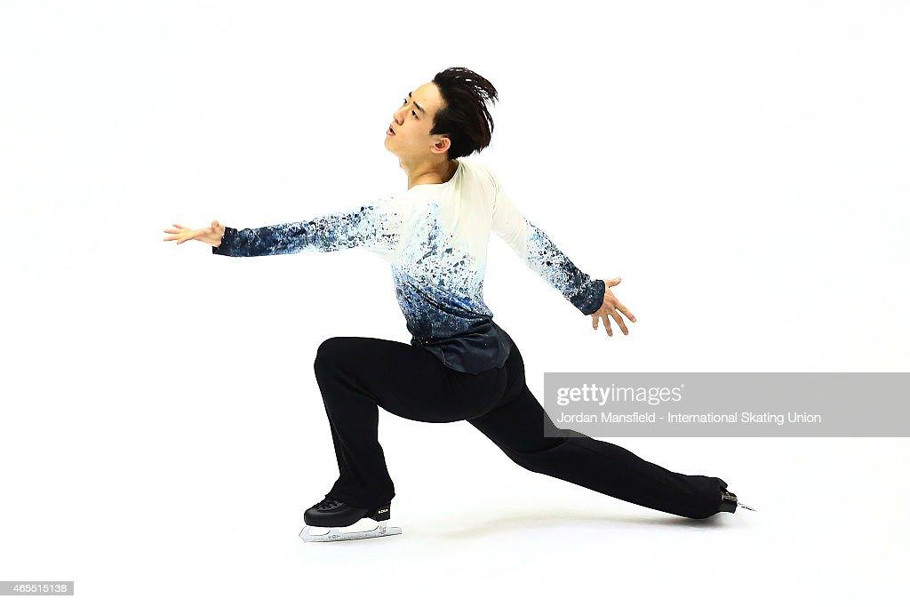 Jin Seo Kim of Korea performs during the Men's Free Skating on Day 4 of the ISU World Junior Figure Skating Championships at Tondiraba Ice Arena on March 7, 2015 in Tallinn, Estonia.