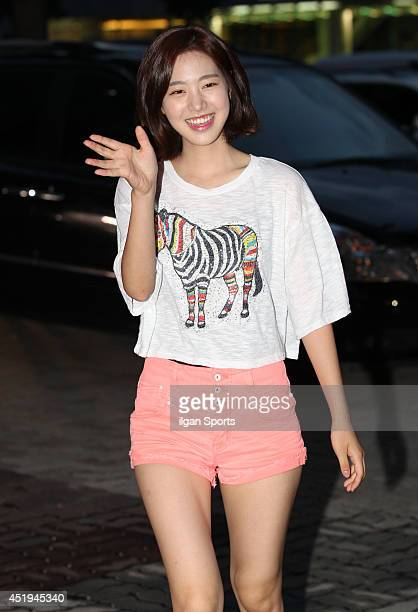 Jin SeYeon attends the drama 'Doctor Stranger' closing dinner party at Nonhyeondong on July 8 2014 in Seoul South Korea
